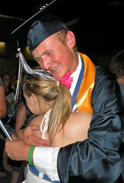 Graduate Joey Teare is on his way to study International Relations at Northern Arizona University.[Hedlund Photos]