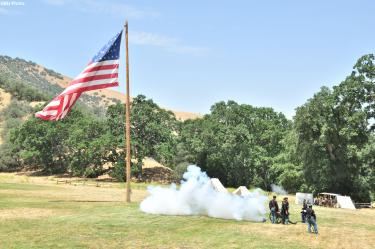 Gunnar Kuepper took this photo of the Fourth of July celebration of 2011 at Fort Tejon State Historic Park, just of the Grapevine in Lebec at the Fort Tejon exit.