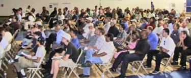 An estimated 300 people showed up at a park in Quartz Hill on Saturday, July 30 to apply for construction jobs with First Solar, Inc. The company hopes to begin construction this month. The building must be underway by September 30 in order to qualify for about $680 million in federal loan guarantees for their project in West Antelope Valley.