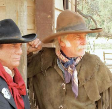 "Al Fleming of Lake of the Woods (right) this year in NBC pilot ""Smokewood, Nevada"" (with actor Robert Davi)."