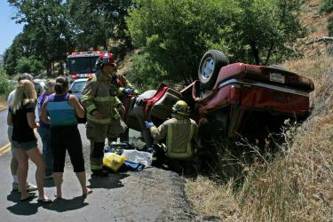 Speeding Car Causes Accident on Lebec Road