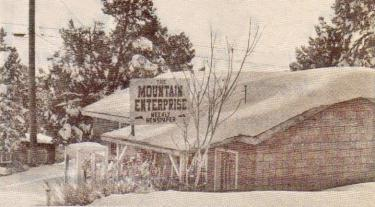 The Mountain Enterprise office in 1995, on Mt. Pinos Way, east of Elm Trail. The paper moved to its current location on Los Padres Drive and Mt. Pinos Way in April of 1995.
