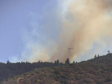 Wildfire Burns on Top of Frazier Mountain
