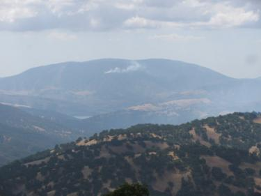 Jim and Fay Lumsden sent this photo of the fire from their perch high atop Tejon Ranch.