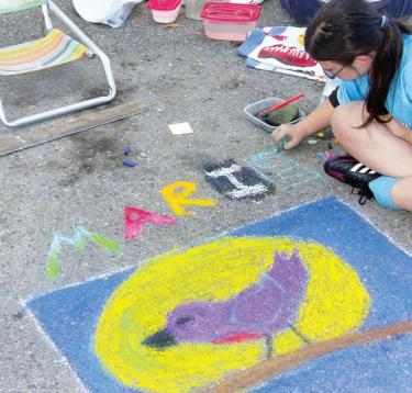 This purple robin by Mari Bogdanof placed second in the Street Art Festival sponsored by La Coffee Cantina last weekend.