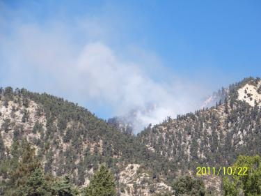 Fire Breaks Out On Tecuya Ridge Over Frazier Park