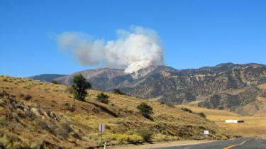 Carol Lee Weber was on Peace Valley Road near Falcon Way in Lebec when she took this photo before 12:30 p.m. Saturday, Oct. 22.