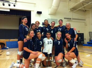 Falcon Volleyball Team Wins League Championship