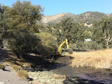 Community Resource News: Frazier Mountain Park Pond Dredged