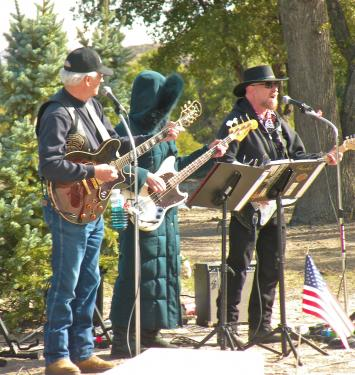 The band YesterYear founded by Conrad and Bee Be Schwarm, with Mark Hollingsworth, gave a musical tribute to honor veterans.