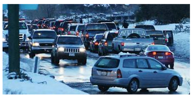 Frazier Mountain Park Road looked more like the 405 freeway in gridlock on Saturday, Jan. 23, 2010 when it took 75 minutes to drive from Lebec to Frazier Park. CHP said a conservative estimate is