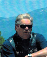 Barry 'Bear' Weksler who died at the intersection of Frazier Mountain Park Road and Mt. Pinos Way in 2005. [photo by Ed Storm]