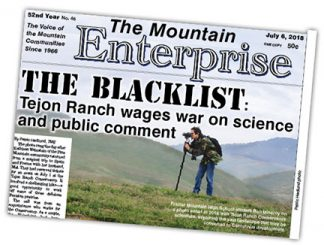 [Image from The Mountain Enterprise, July 6, 2018 edition.]