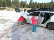 Snowplay visitors head for Mt. Pinos