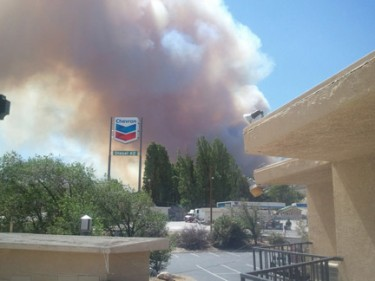 Dale Sheldon stepped out from the Econolodge Motel in Gorman and got this photo.
