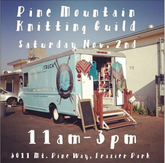 Debbie the yarn truck will be at Coffee Cantina on Saturday, Nov. 2.