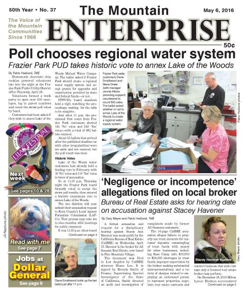 The Mountain Enterprise May 6, 2016 Edition