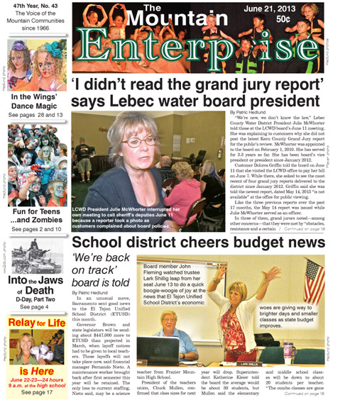 The Mountain Enterprise June 21, 2013 Edition
