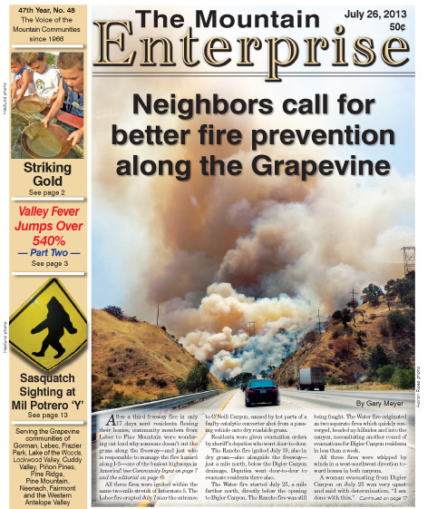 The Mountain Enterprise July 26, 2013 Edition