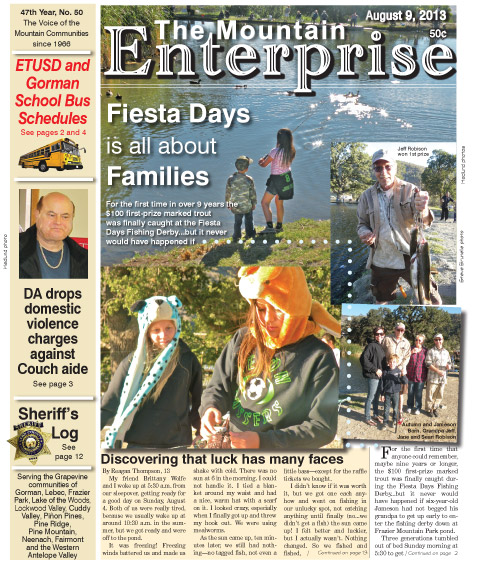 The Mountain Enterprise August 9, 2013 Edition