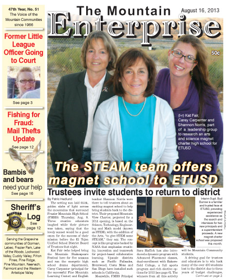 The Mountain Enterprise August 16, 2013 Edition