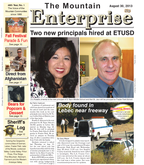 The Mountain Enterprise August 30, 2013 Edition