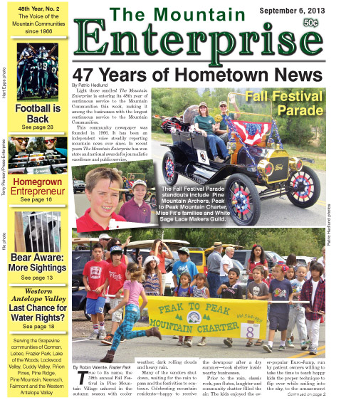 The Mountain Enterprise September 6, 2013 Edition