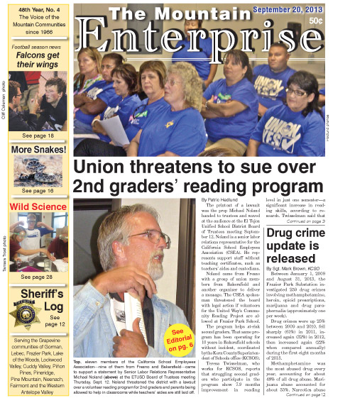 The Mountain Enterprise September 20, 2013 Edition