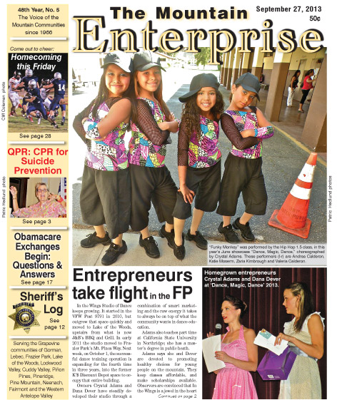 The Mountain Enterprise September 27, 2013 Edition