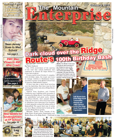 The Mountain Enterprise October 9, 2015 Edition