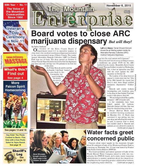 The Mountain Enterprise November 6, 2015 Edition