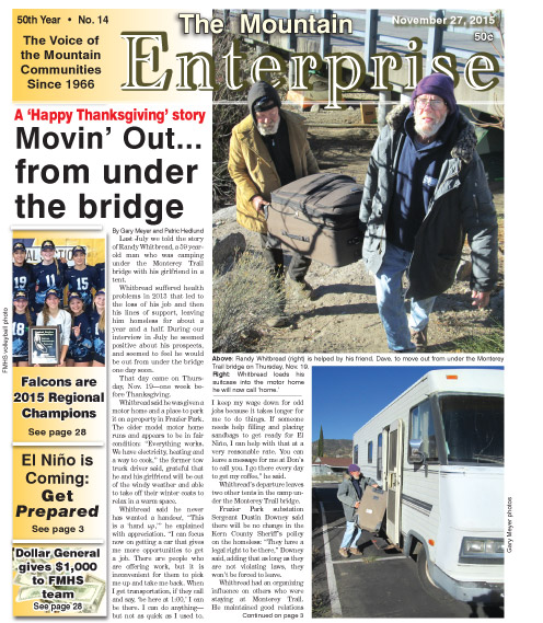 The Mountain Enterprise November27, 2015 Edition