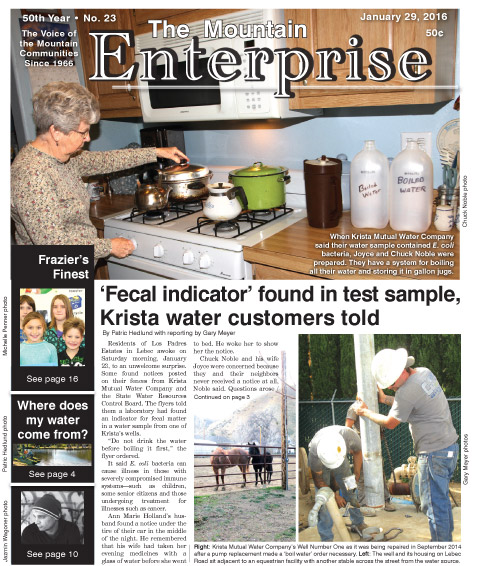 The Mountain Enterprise January 29, 2016 Edition