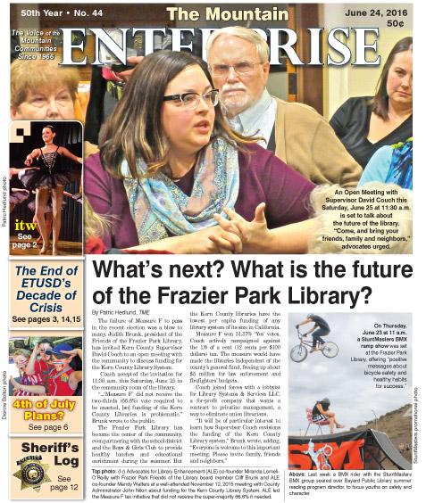 The Mountain Enterprise June 24, 2016 Edition