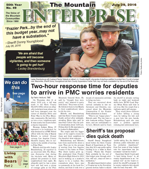 The Mountain Enterprise July 29, 2016 Edition