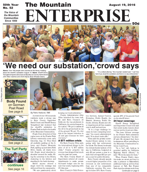 The Mountain Enterprise August 19, 2016 Edition