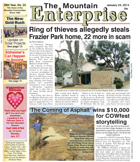 The Mountain Enterprise January 24, 2014 Edition