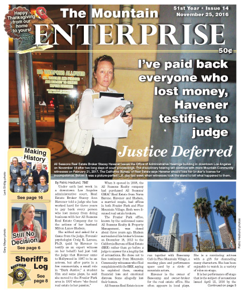 The Mountain Enterprise November 25, 2016 Edition