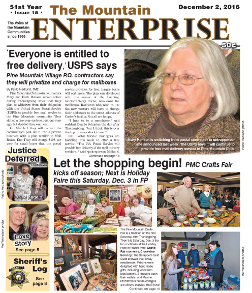 The Mountain Enterprise December 2, 2016 Edition