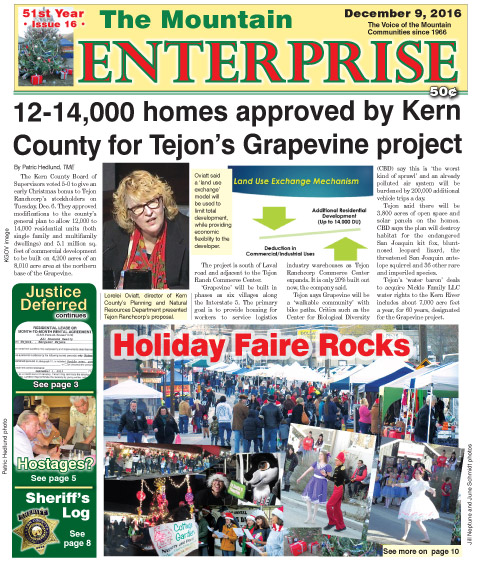 The Mountain Enterprise December 9, 2016 Edition