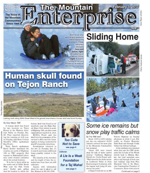 The Mountain Enterprise February 3, 2017 Edition