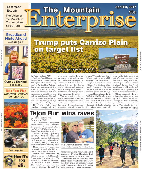 The Mountain Enterprise April 28, 2017 Edition