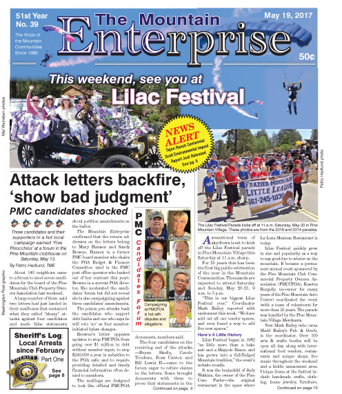 The Mountain Enterprise May 19, 2017 Edition