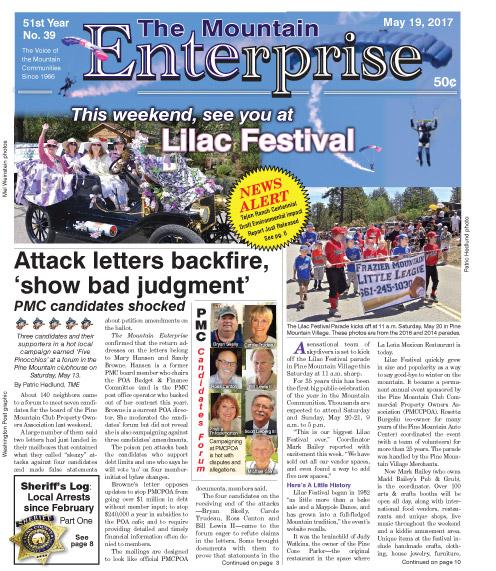 The Mountain Enterprise May 19, 2017 Edition
