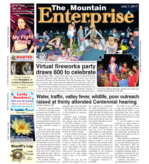 The Mountain Enterprise July 7, 2017 Edition