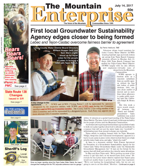 The Mountain Enterprise July 14, 2017 Edition