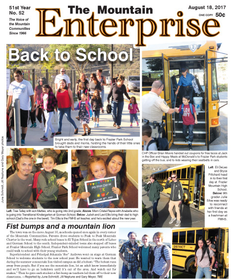 The Mountain Enterprise August 18, 2017 Edition