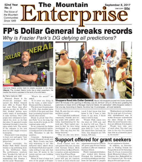 The Mountain Enterprise September 8, 2017 Edition