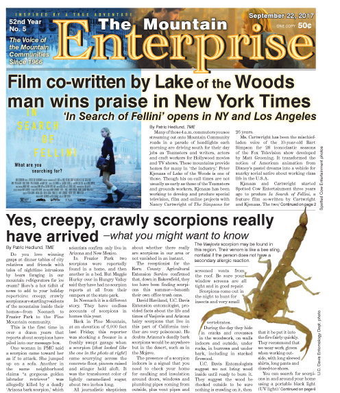 The Mountain Enterprise September 22, 2017 Edition