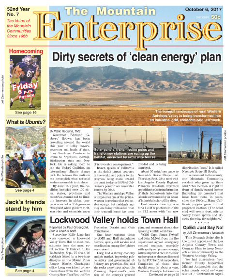The Mountain Enterprise October 6, 2017 Edition
